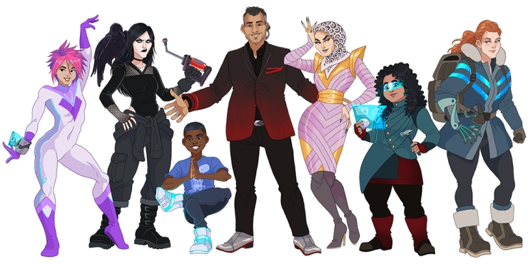 a cosmopolitan group of space opera protagonists